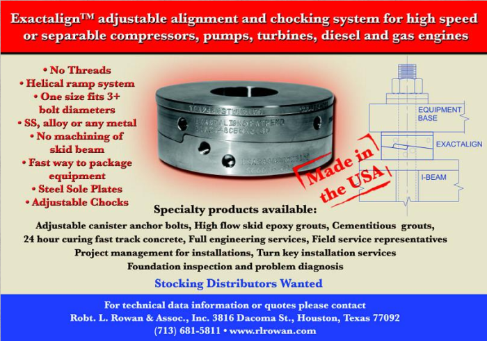Exactalign adjustable alignment and chocking system